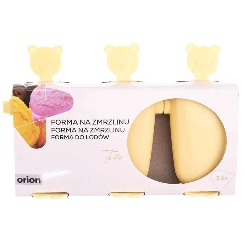 ORION Mold for ice cream on stick ice cream 3 pcs BEARS