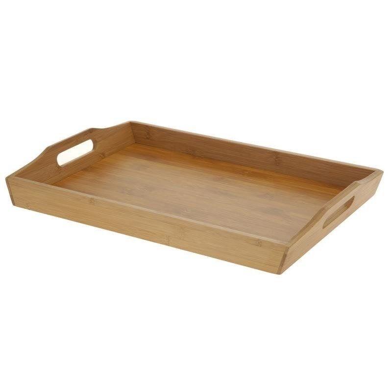 Taca bambusowa do serwowania kelnerska drewniana 43x29x5 cm