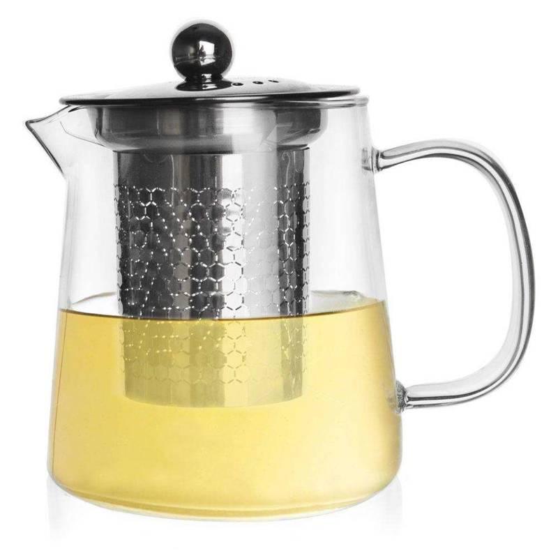 Dzbanek z zaparzaczem zaparzacz czajnik 0,6 l sitko